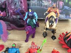 Vintage He Man Snake Mountain Complete With Box 17 Evil Warrior Figures & More