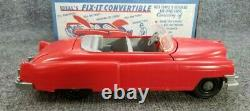 Vintage IDEAL TOYS FIX-IT CONVERTABLE PLASTIC CAR WithBOX N TOOLS