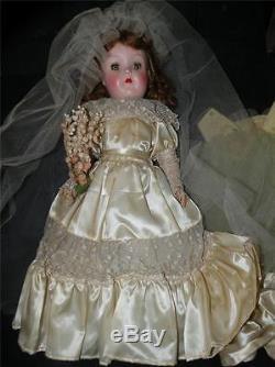 Vintage Ideal Hard Plastic P-92 Toni Doll Bride 19t Original Clothes & Box