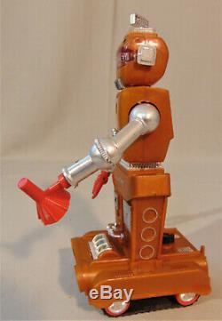 Vintage Ideal ZEROIDS ZOBOR Robot With ORIGINAL Plastic Box/Case For Restoration