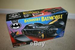 Vintage Kenner 1991 Batman Returns Batmobile Batmissile withBox CIB C720