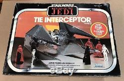 Vintage Kenner Star Wars ROTJ Tie Interceptor MISB Mint In Sealed Box AFA BEAUTY