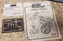 Vintage Kenner Star Wars Return Jedi ROTJ 1983 1984 Y-Wing Box Y Wing Catalog