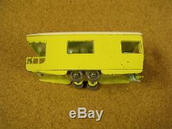 Vintage Lesney Matchbox # 23 Trailer Caravan Original Box Gray Plastic Wheels