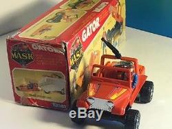 Vintage M. A. S. K. 1985 Kenner Mask Toy Vehicle Box Gator Dusty Hayes Jeep Boat