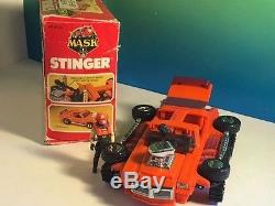 Vintage M. A. S. K. 1985 Kenner Mask Toy Vehicle Nib Box Stinger Bruno Sheppard Gto