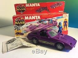 Vintage M. A. S. K. 1986 Kenner Mask Toy Vehicle Box Manta Vanessa Warfield 300 Zx