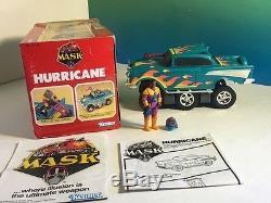 Vintage M. A. S. K. 1986 Kenner Mask Vehicle Box Hurricane 1957 Chevy Hondo Maclean