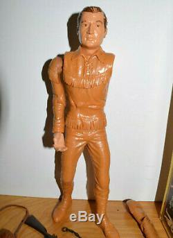 Vintage MARX DANIEL BOONE Action Figure With Box & Accessories 11 Plastic 1964
