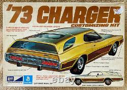 Vintage MPC 73 Dodge Charger Customizing Kit Plastic Model 1973 Box Rare'73
