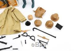 Vintage Marx Mike Hazard Double Agent Spy Action Figure Set & Box #2090