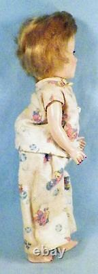 Vintage Mary Hoyer Doll Hard Plastic Blonde Hair Pajamas in Original Box #3 AsIs