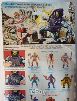 Vintage Mattel Masters Universe He Man Battle Armor Skeletor Boxed Carded Moc
