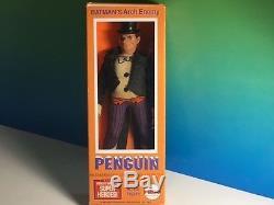 Vintage Mego Super Hero Action Figure 1973 DC Comics Penguin Enemy Batman Box 8