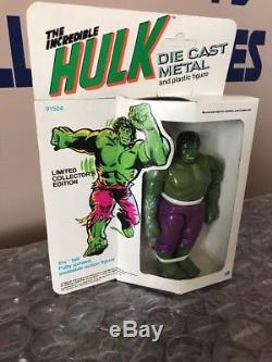 Vintage NEW IN BOX Mego Incredible Hulk Die Cast Metal & Plastic Figure 1979