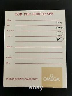 Vintage Omega Speedmaster / Seamaster Watch Inner /Outer Box Warranty Papers