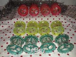 Vintage Original Box 12 Birdcage Spinner Twinkler Plastic Motion Xmas Ornaments