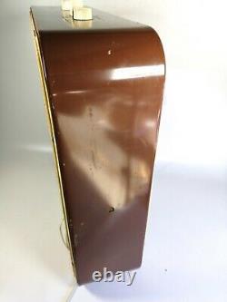 Vintage Panasonic Metal Box Fan 3 Speed Model Plastic Blades Rare Brown Beige