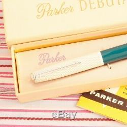 Vintage Parker 41 Fish-scale Gold-web Fountain Pen Pencil Box-set New Old Stock