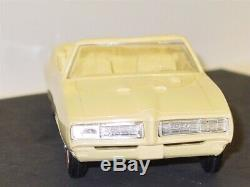 Vintage Plastic 1968 Pontiac GTO Convertible + Box, Dealer Promo Car