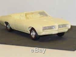 Vintage Plastic 1969 Pontiac GTO Convertible + Box, Dealer Promo Car
