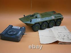 Vintage Rare USSR Military Armored BTR TANK Plastic Toy Remote Control + Box