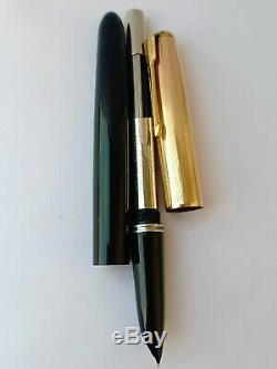 Vintage Restored Parker 51 Fountain Pen Rare in Original Box-Blue-12K-Medium
