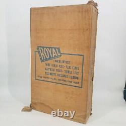 Vintage Royal Plastic Light Up Santa 28 Tall In Original Box Flat Box