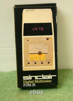 Vintage Sinclair PDM-35 Digital LED Multimeter (1975/6) Boxed Mint Condition