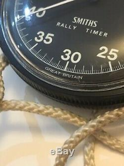 Vintage Smiths Rally Stopwatch / Timer / Watch & Dashboard Clip / Holder /box