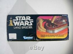 Vintage Star Wars ANH 1977 Land Speeder withBox, Luke/C-3PO Fully Functional