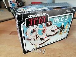 Vintage Star Wars MIB MLC-3 Mini-Rig Never Removed! European ROTJ Box 1983