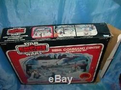 Vintage Star Wars REBEL COMMAND CENTER Playset Figures Box Luke R2-D2 Sears 1981