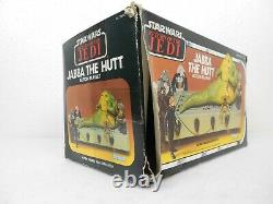 Vintage Star Wars ROTJ 1983 Jabba's Throne Room Complete withBox Very Nice