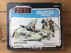 Vintage Star Wars ROTJ Snowspeeder BOXED Palitoy Kenner With Instructions