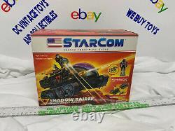 Vintage Starcom Shadow Raider vehicle Battlecron Star Com Factory Sealed box