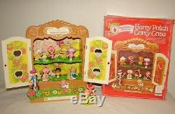 Vintage Strawberry Shortcake Miniatures Cabinet Original Box Lot with PVC Minis