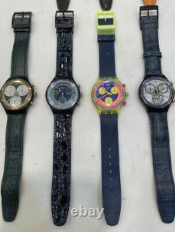 Vintage Swatch Chrono watch Collection Of 13 Pieces