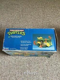 Vintage TMNT Ninja Turtles Van Party Wagon 1989 With Original Box