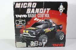 Vintage Taiyo Tyco Rare Car Truck Micro Bandit Radio Control Rc In Box