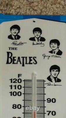 Vintage The Beatles Fan Club Plastic Wall Thermometer with Original Box NOSMINTY