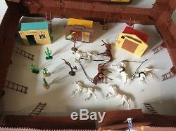 Vintage Timpo Wild West Fort Boxed + Other Town Buildings, Wagons, Cowboys Etc