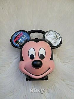 Vintage Walt Disney MICKEY MOUSE Head Aladdin Plastic Lunch Box NO THERMOS