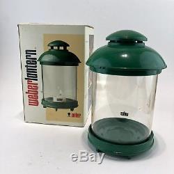 Vintage Weber LARS Lantern RARE Green 1984 Made in Sweden In Box