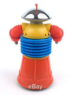 Vintage Yonezawa/Mego (Japan) Plastic Battery Op Krome Dome Robot BOXED