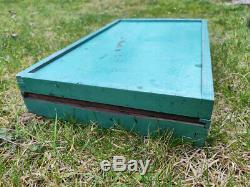 Vintage letterpress wooden box plastic type wood printing blocks letters adana