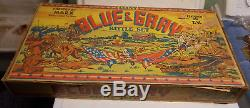 Vintage marx GIANT BLUE and GRAY playset BOXED civil war 1950's