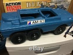Vintage palitoy Action Man Transport command vehicle D. U. K. W. With box super RAR