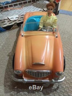 Vtg 1962 Barbie AUSTIN HEALEY SPORTS CAR by IRWIN with original box & Barbie