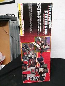 Vtg 1987 G1 TRANSFORMERS AUTOBOT CITY FORTRESS MAXIMUS WithBOX/ accessories ROBOT